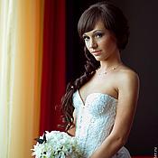 Одежда handmade. Livemaster - original item Bridal corset with cups. Handmade.