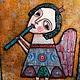 Этно ручной работы. Ярмарка Мастеров - ручная работа. Купить Радость. Handmade. Разноцветный, оригинальный ангел, наивный стиль