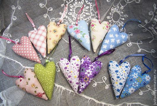 Куклы Тильды ручной работы. Ярмарка Мастеров - ручная работа. Купить Текстильное сердечко тильда. Handmade. Разноцветный, текстиное сердце