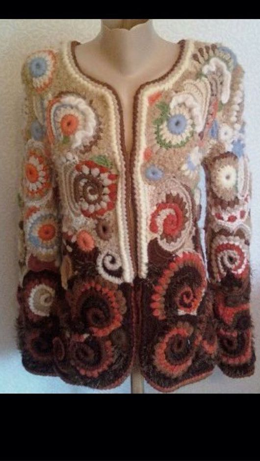 """Верхняя одежда ручной работы. Ярмарка Мастеров - ручная работа. Купить Жакет вязаный """" Аромат кофе"""". Handmade. шанель"""