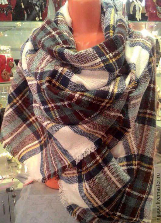 """Другие виды рукоделия ручной работы. Ярмарка Мастеров - ручная работа. Купить Платок палантин шерстяной """"Шотландия"""" 02. Handmade."""