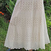 Одежда ручной работы. Ярмарка Мастеров - ручная работа юбка льняная ажурная. Handmade.