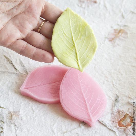 Материалы для флористики ручной работы. Ярмарка Мастеров - ручная работа. Купить Роза - лист классический вайнер пищевой силикон. Handmade.