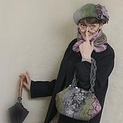 """Сумки и аксессуары ручной работы. Ярмарка Мастеров - ручная работа Валяный комплект. Сумка, шарфик и берет """"Шарм"""". Handmade."""