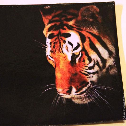 """Подарки для мужчин, ручной работы. Ярмарка Мастеров - ручная работа. Купить Кожаная обложка для паспорта """"Котеночек"""" .. Handmade. Черный, подарок"""