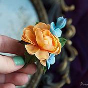 Украшения handmade. Livemaster - original item Brooch peony the color of ripe apricot. Handmade.