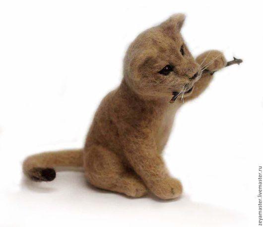 Игрушки животные, ручной работы. Ярмарка Мастеров - ручная работа. Купить Львенок. Интерьерная валяная игрушка из шерсти. Handmade. Бежевый