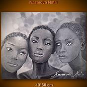 Картины и панно handmade. Livemaster - original item Picture of The Girlfriend of The Negryatushki Oil. Handmade.