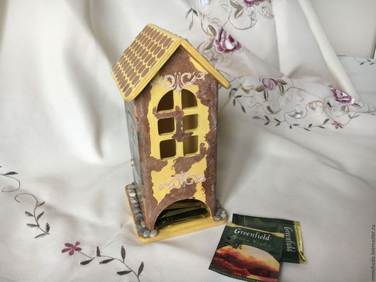 """Кухня ручной работы. Ярмарка Мастеров - ручная работа. Купить Чайный домик """"Летнее кафе"""". Handmade. Желтый, для кухни"""