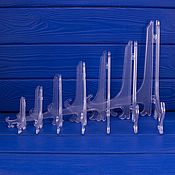 Предметы интерьера винтажные ручной работы. Ярмарка Мастеров - ручная работа Подставки для декоративных тарелок из прозрачного пластика. Handmade.