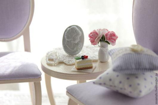 """Кукольный дом ручной работы. Ярмарка Мастеров - ручная работа. Купить Комплект мебели 1:6 """"Сиреневая нежность"""". Handmade."""