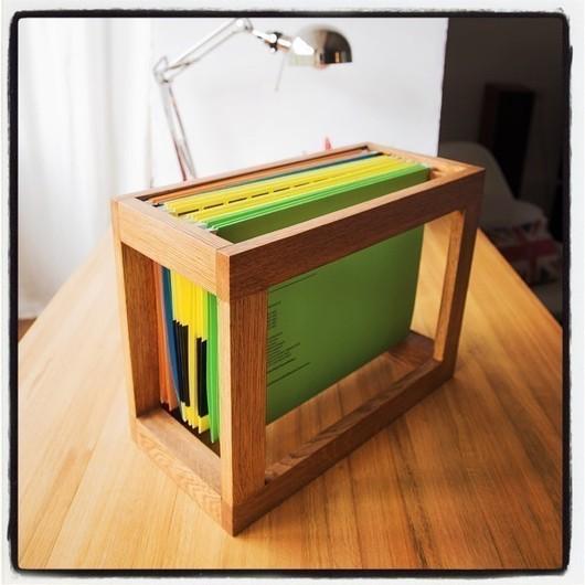 Мебель ручной работы. Ярмарка Мастеров - ручная работа. Купить Подставка для подвесных папок Quattro. Handmade. Коричневый, организация пространства