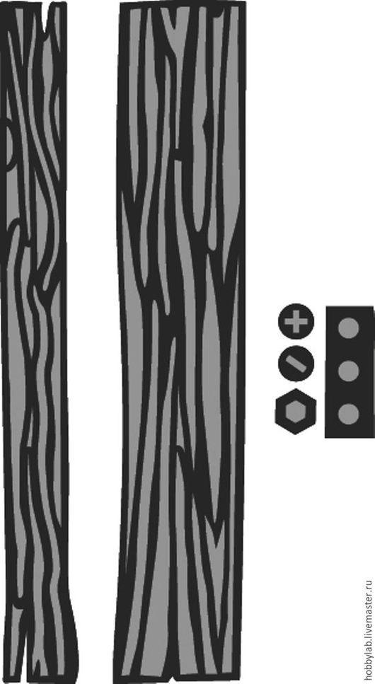 """Открытки и скрапбукинг ручной работы. Ярмарка Мастеров - ручная работа. Купить Набор форм для вырубки """"Дерево"""". Handmade."""