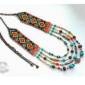 Necklace handmade. Livemaster - original item Boho Indian necklace. Handmade.