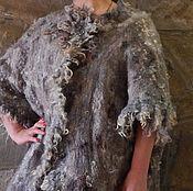 """Одежда ручной работы. Ярмарка Мастеров - ручная работа Валяный кардиган в стиле оверсайз """"Прогулка в горах"""". Handmade."""