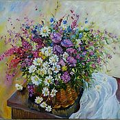 Картины и панно handmade. Livemaster - original item Picture.Wildflowers ,chamomile oil