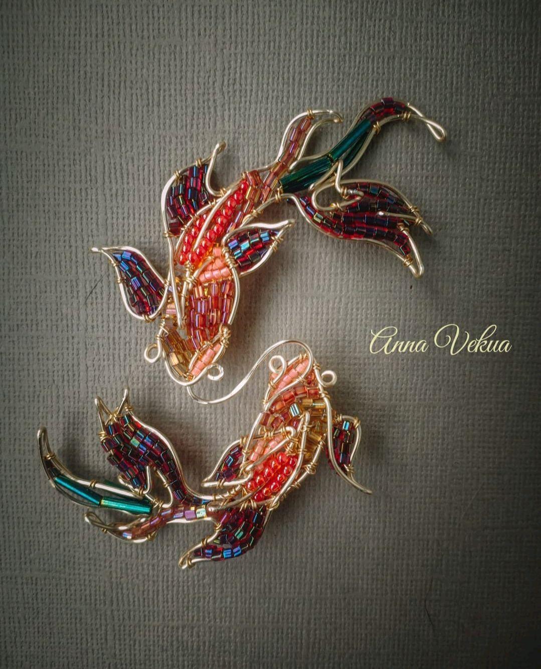 Brooch 'Fish', Bead bracelet, St. Petersburg,  Фото №1