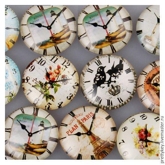 Для украшений ручной работы. Ярмарка Мастеров - ручная работа. Купить 25 мм. 32 вида Кабошоны Time. Handmade.