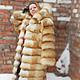 Верхняя одежда ручной работы. Ярмарка Мастеров - ручная работа. Купить Шуба из рыжей лисы, поперечная.  С капюшоном. Handmade.