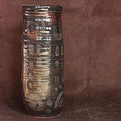 Для дома и интерьера ручной работы. Ярмарка Мастеров - ручная работа Ваза керамическая Тайные знаки. Handmade.