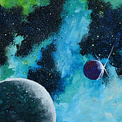 Картины и панно ручной работы. Ярмарка Мастеров - ручная работа Просто космос. Handmade.