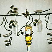 Для дома и интерьера handmade. Livemaster - original item wall stand for bottles and glasses. Handmade.