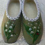 """Обувь ручной работы. Ярмарка Мастеров - ручная работа """"ЛАНДЫШИ"""" валяные тапочки. Handmade."""