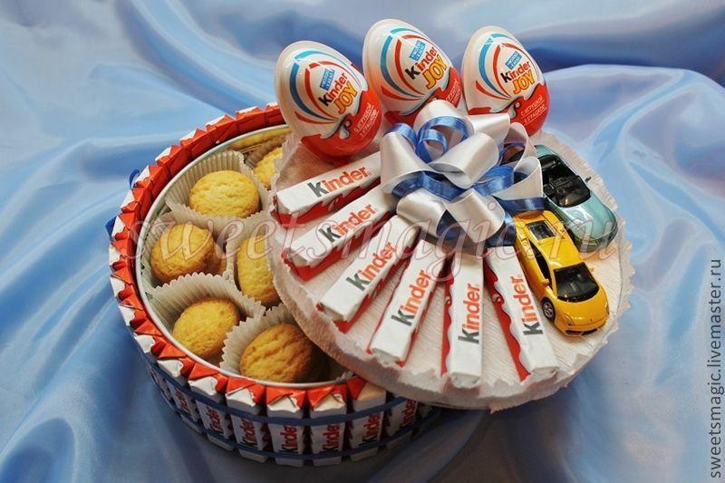 Торт из конфет своими руками на день рождения ребенка в садик пошагово