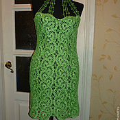 Одежда handmade. Livemaster - original item Knit dress crochet. Handmade.