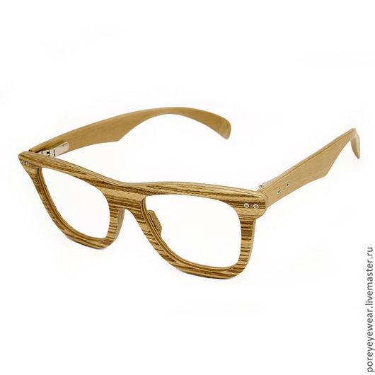 """Очки ручной работы. Ярмарка Мастеров - ручная работа. Купить Деревянные очки ручной работы """"LookPorey"""". Handmade. Бежевый"""