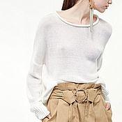 """Одежда ручной работы. Ярмарка Мастеров - ручная работа Свитер белый """"Миндаль"""". Белый свитер. Белый свитер. Белый свитер.. Handmade."""