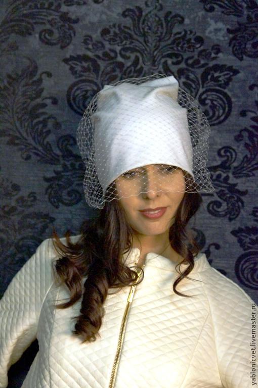 Шапки ручной работы. Ярмарка Мастеров - ручная работа. Купить шапочка из итальянского шерстяного трикотажа. Handmade. Белый, шапочка на заказ