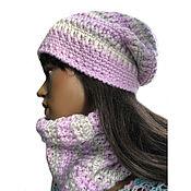 Аксессуары handmade. Livemaster - original item Set of winter Lilac. Handmade.
