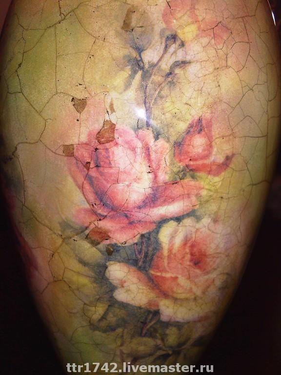 """Ваза """"Цветущие розы"""""""