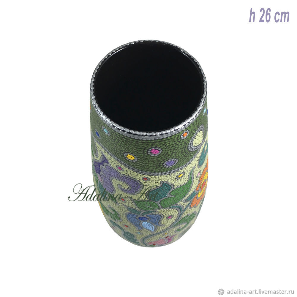 Ваза ЛЮБАВА ваза для цветов Точечная роспись