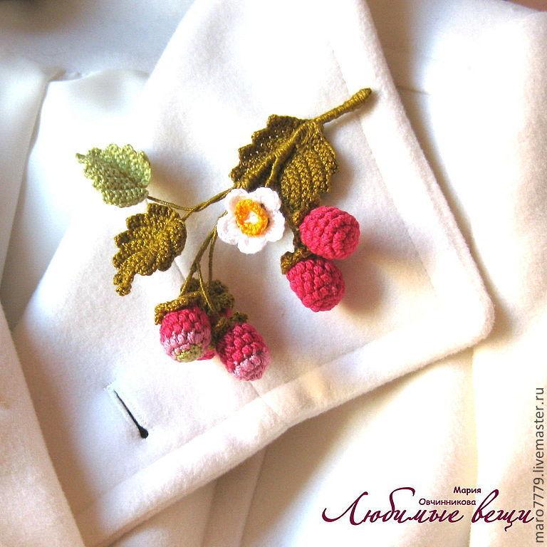 родной, вязание крючком украшения веточки на блузку стандартная