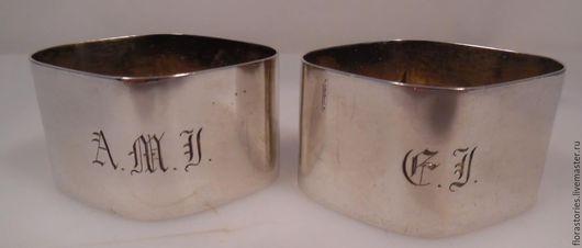 Винтажные предметы интерьера. Ярмарка Мастеров - ручная работа. Купить Старинные кольца для салфеток. Handmade. Серый, антикварное серебро