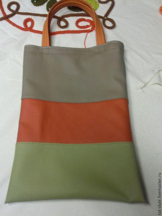 Женские сумки ручной работы. Ярмарка Мастеров - ручная работа. Купить Авоська из экокожи. Handmade. Комбинированный, хендмейд, лоскутная сумка