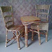 """Для дома и интерьера ручной работы. Ярмарка Мастеров - ручная работа Комплект плетёной мебели для дома """"Уют"""". Handmade."""
