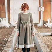Одежда ручной работы. Ярмарка Мастеров - ручная работа Шерстяное зимнее платье. Handmade.