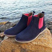 Обувь ручной работы. Ярмарка Мастеров - ручная работа Ботинки челси в замше. Handmade.