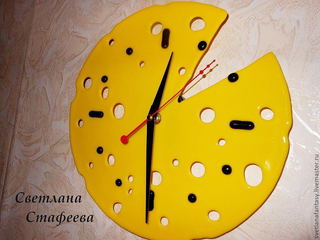 """Часы настенные """"Сыр"""" для кухни, Часы классические, Москва,  Фото №1"""