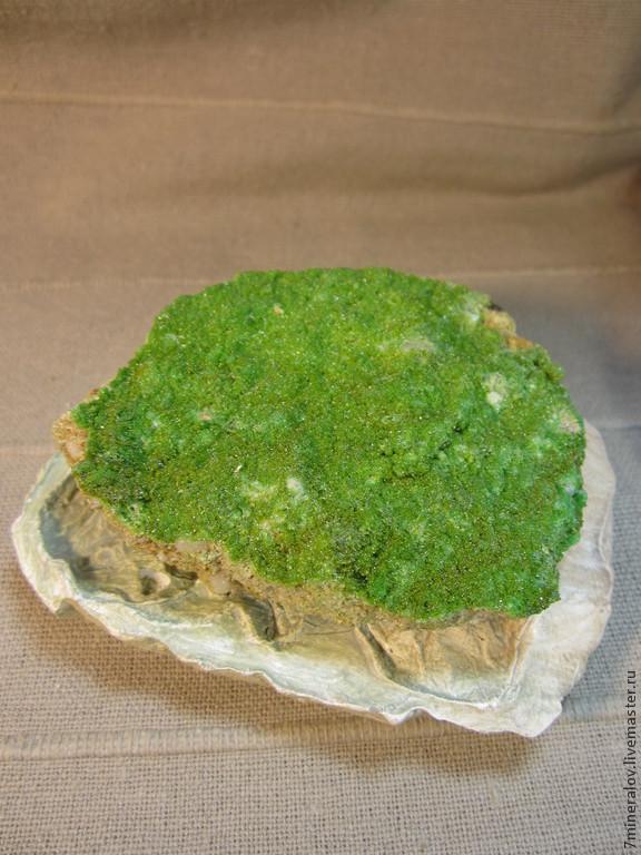 """Минералы, друза ручной работы. Ярмарка Мастеров - ручная работа. Купить 153гр. Пироморфит """"Яркий - зелёный"""" Природные камни. Handmade."""
