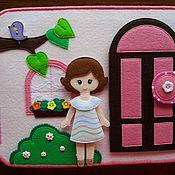 Кукольные домики ручной работы. Ярмарка Мастеров - ручная работа Кукольный домик из фетра. Handmade.