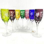 Винтаж handmade. Livemaster - original item Stemware glasses crystal champagne sherry Nachtmann. Handmade.