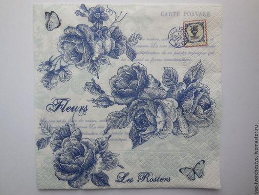 Салфетка для декупажа Голубые розы