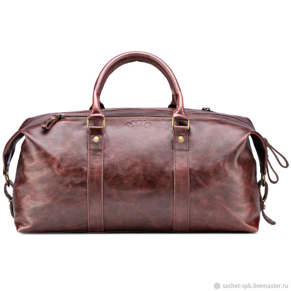 b95f12d2fe21 Спортивные сумки ручной работы. Ярмарка Мастеров - ручная работа. Купить  Кожаная дорожно-спортивная ...