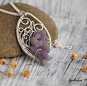 Украшения handmade. Livemaster - original item Pendant from silver and chalcedony grape. Handmade.