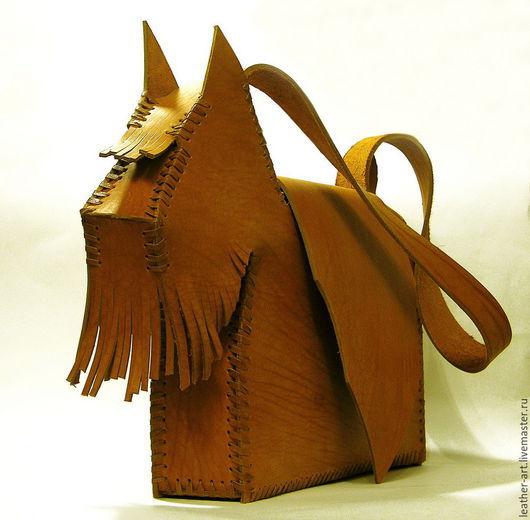 Женские сумки ручной работы. Ярмарка Мастеров - ручная работа. Купить Сумка кожаная женская Рыжий терьер. Handmade. Рыжий