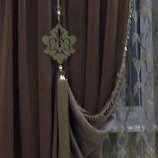 Шторы ручной работы. Ярмарка Мастеров - ручная работа Текстиль гостиная ПРЕМИУМ. Handmade.